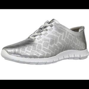 Cole Haan Women's Zero Grand Silver Sneakers 6.5